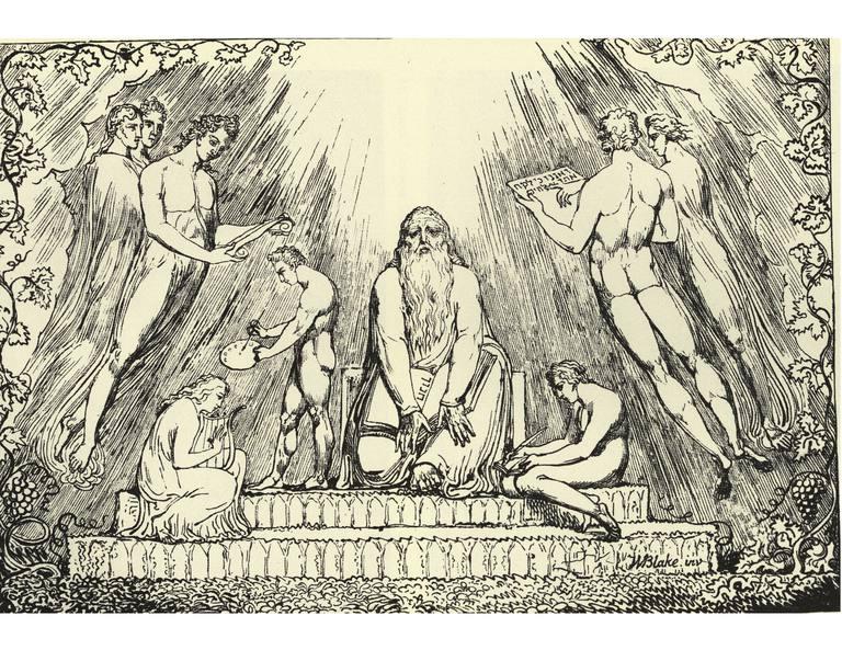 Enoc- litografía que ilustra Génesis 5:23-24