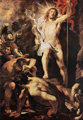 La resurrección de Jesús por Pedro Pablo Rubens (1611)