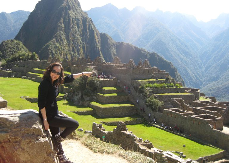Mixha Zizek en Machu Picchu