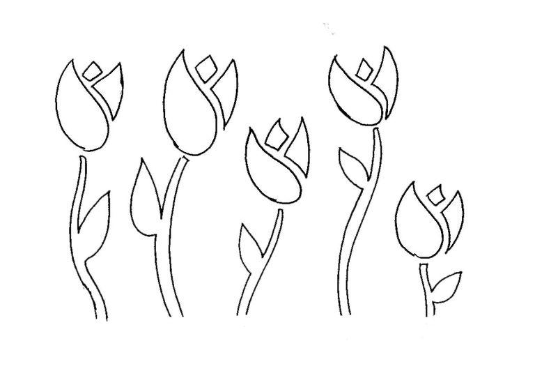 Plantillas De Flores De Stencil Gratis