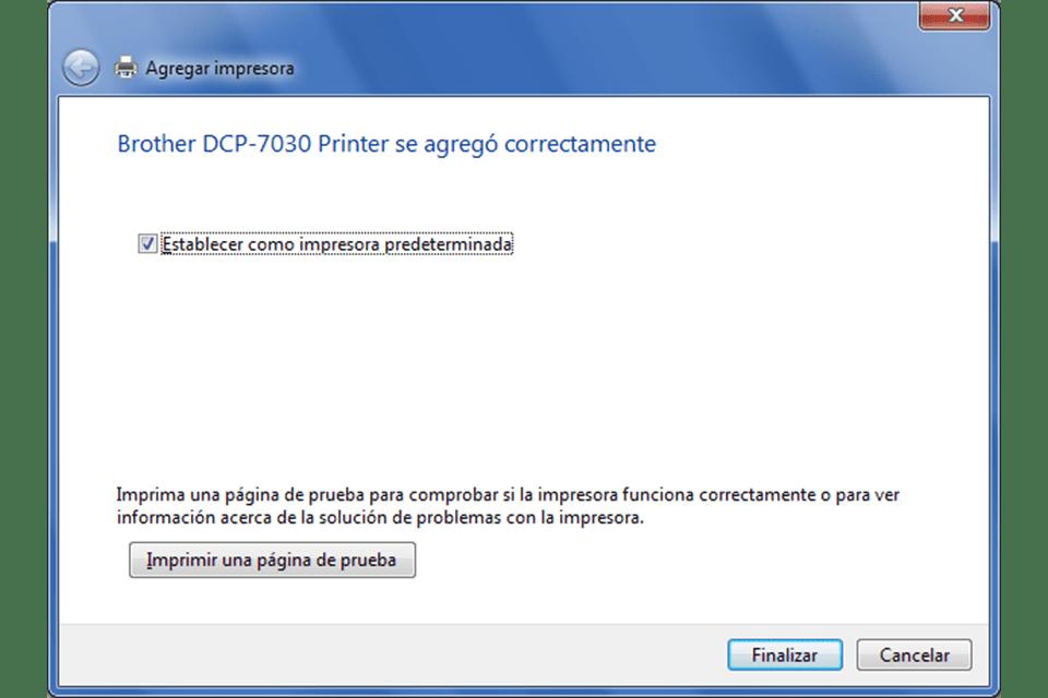 Completar instalacion impresora