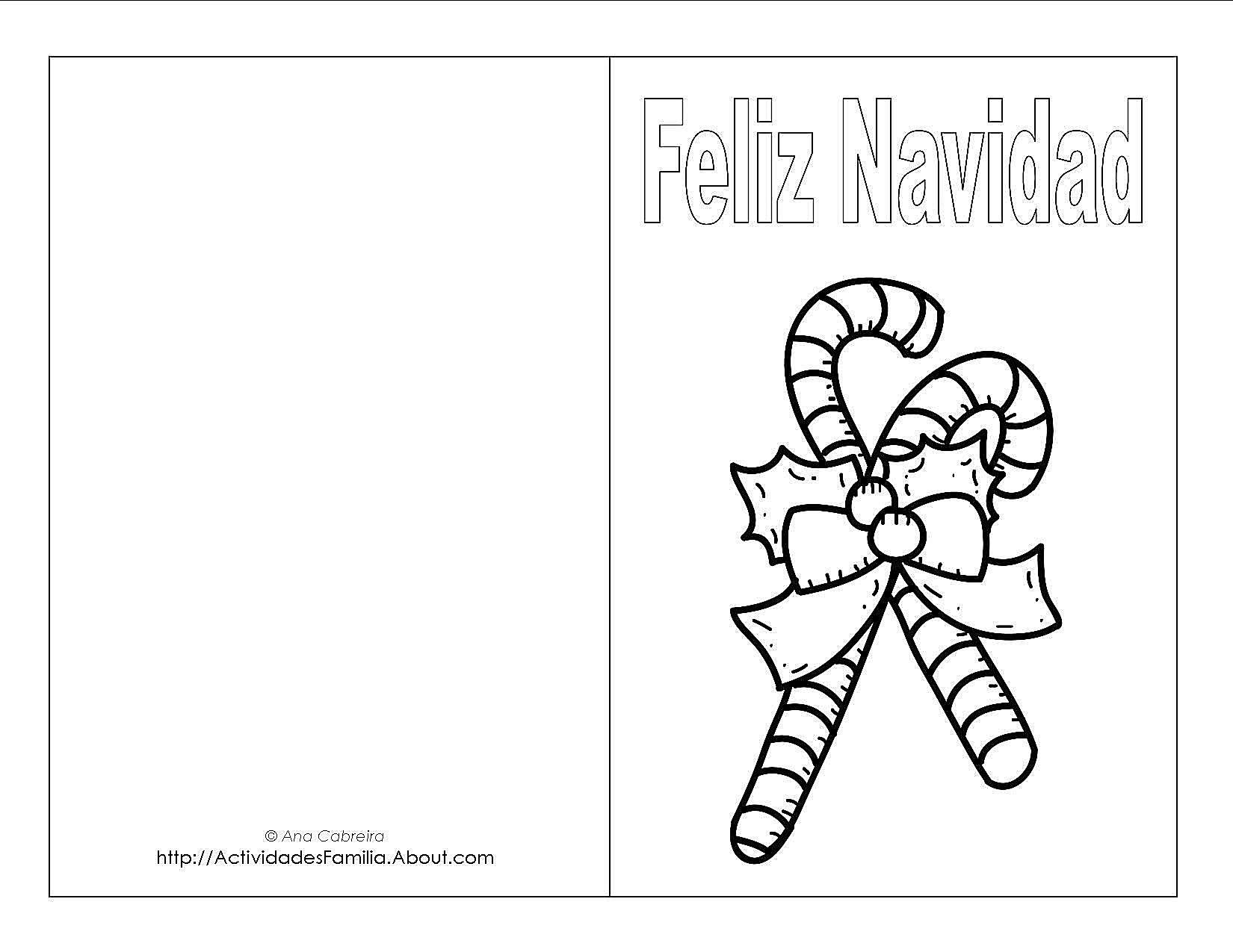 Dibujos Para Tarjetas De Navidad Para Ninos.Tarjetas De Navidad Para Imprimir Y Colorear