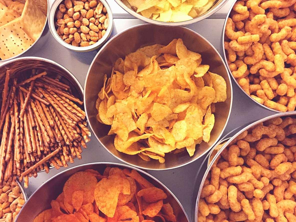 Snacks y chips malos colesterol