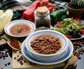 frijoles con chile, platillo tipico de la cocina mexicana