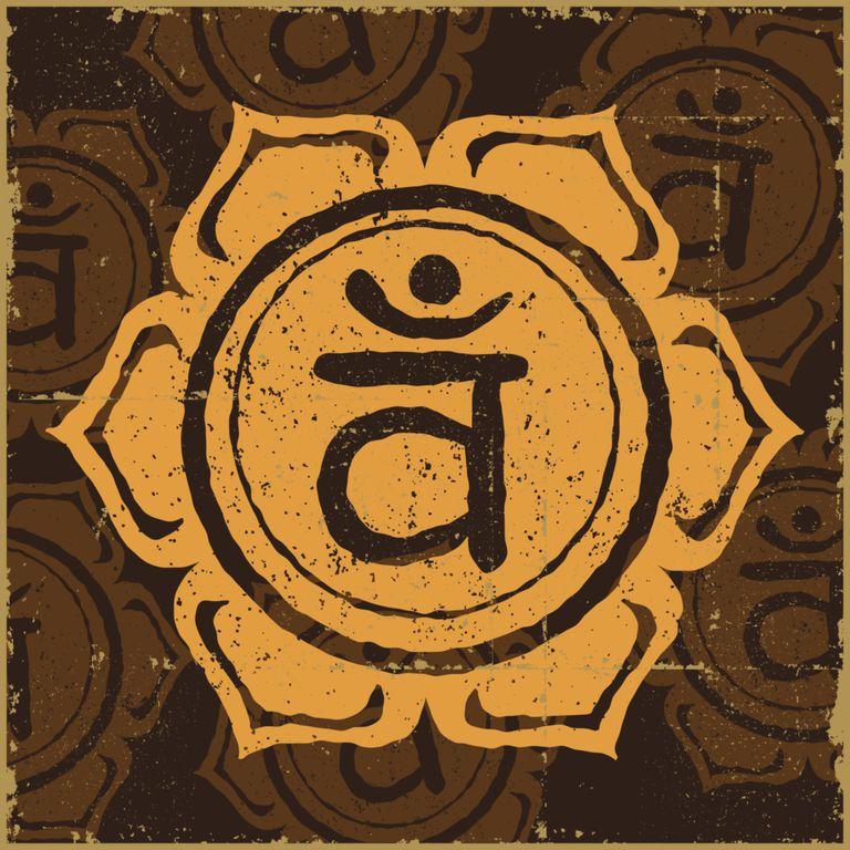 Dibujo del símbolo del segundo chakra