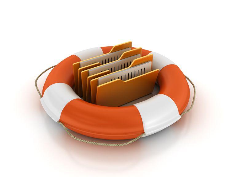 Salvavidas y carpetas de archivos