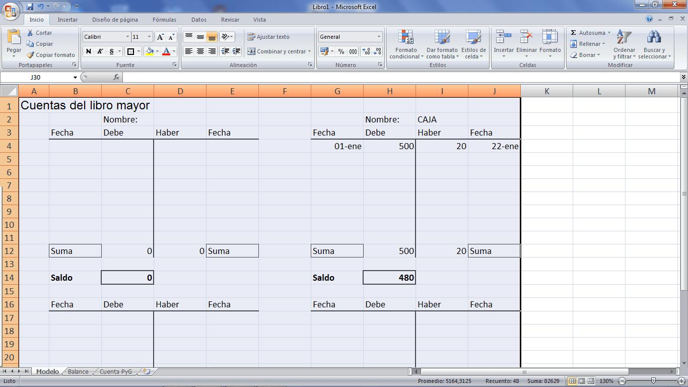 d3af157b6522 Cuentas T para contabilidad con hojas de cálculo