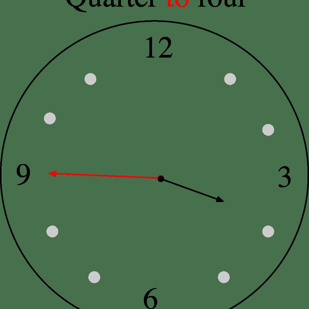 Quarter to four