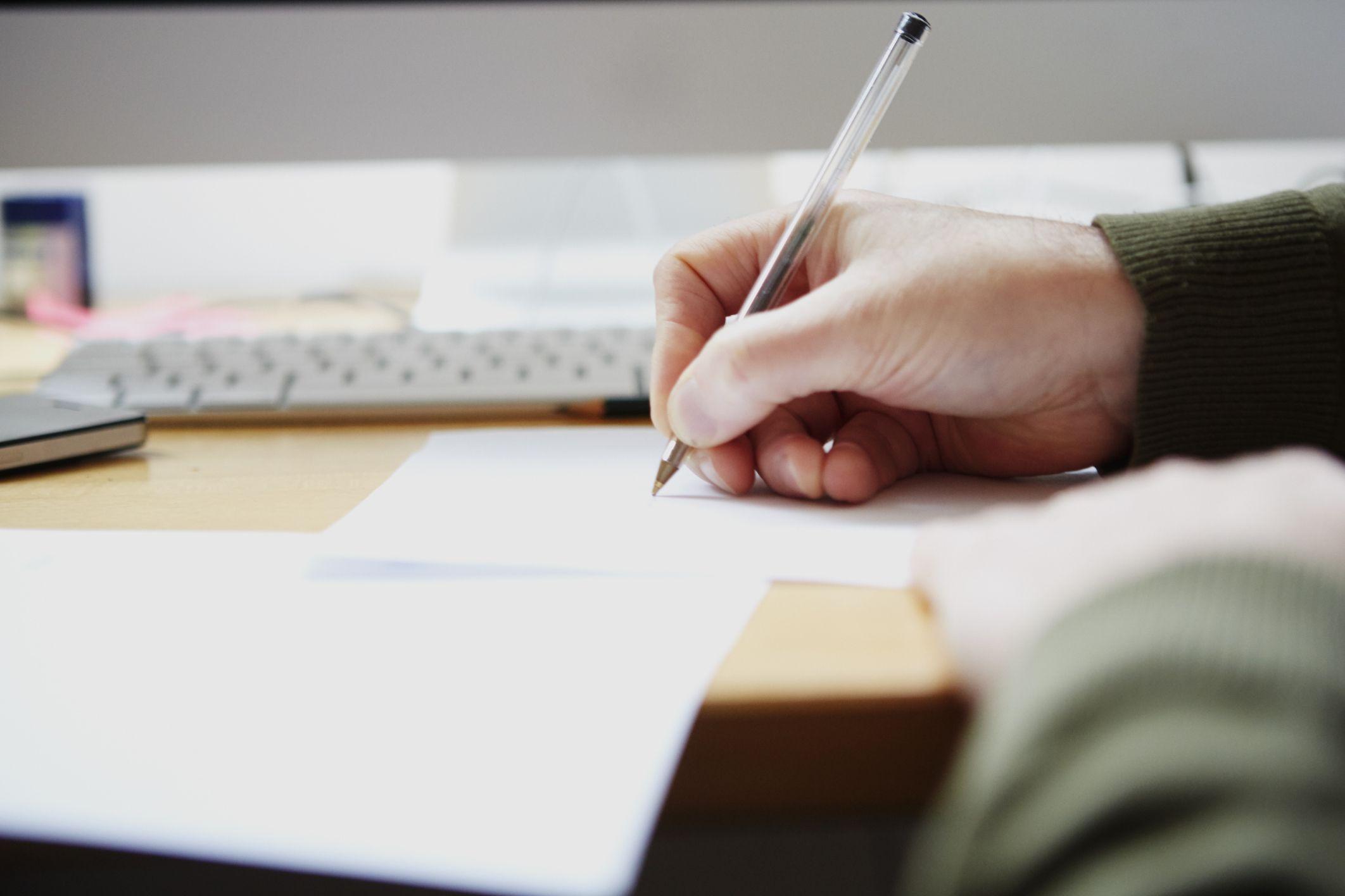 Escribiendo un ensayo