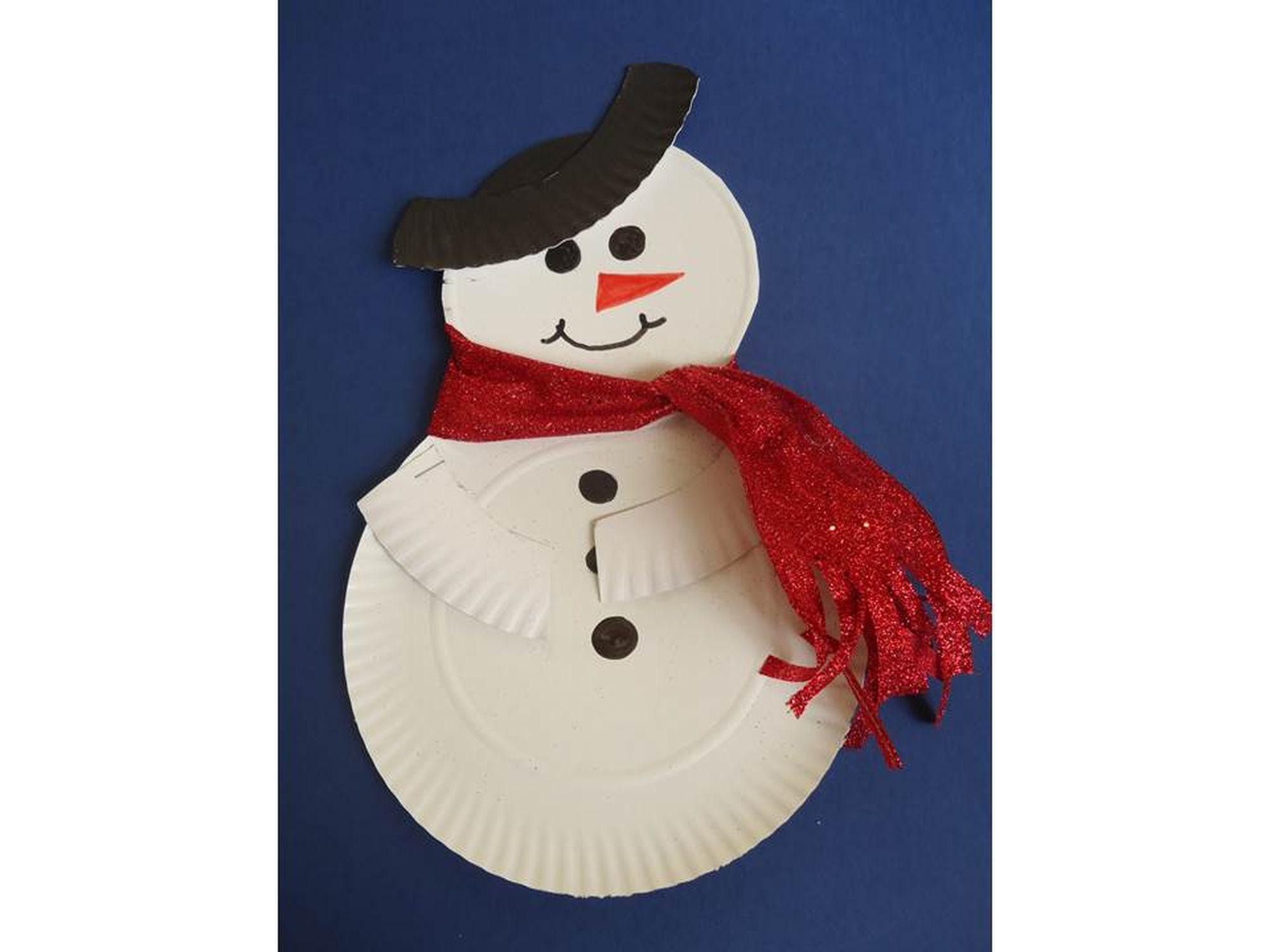 6 Adornos Para Navidad Con Platos Desechables - Adornos-de-navidad-con-carton