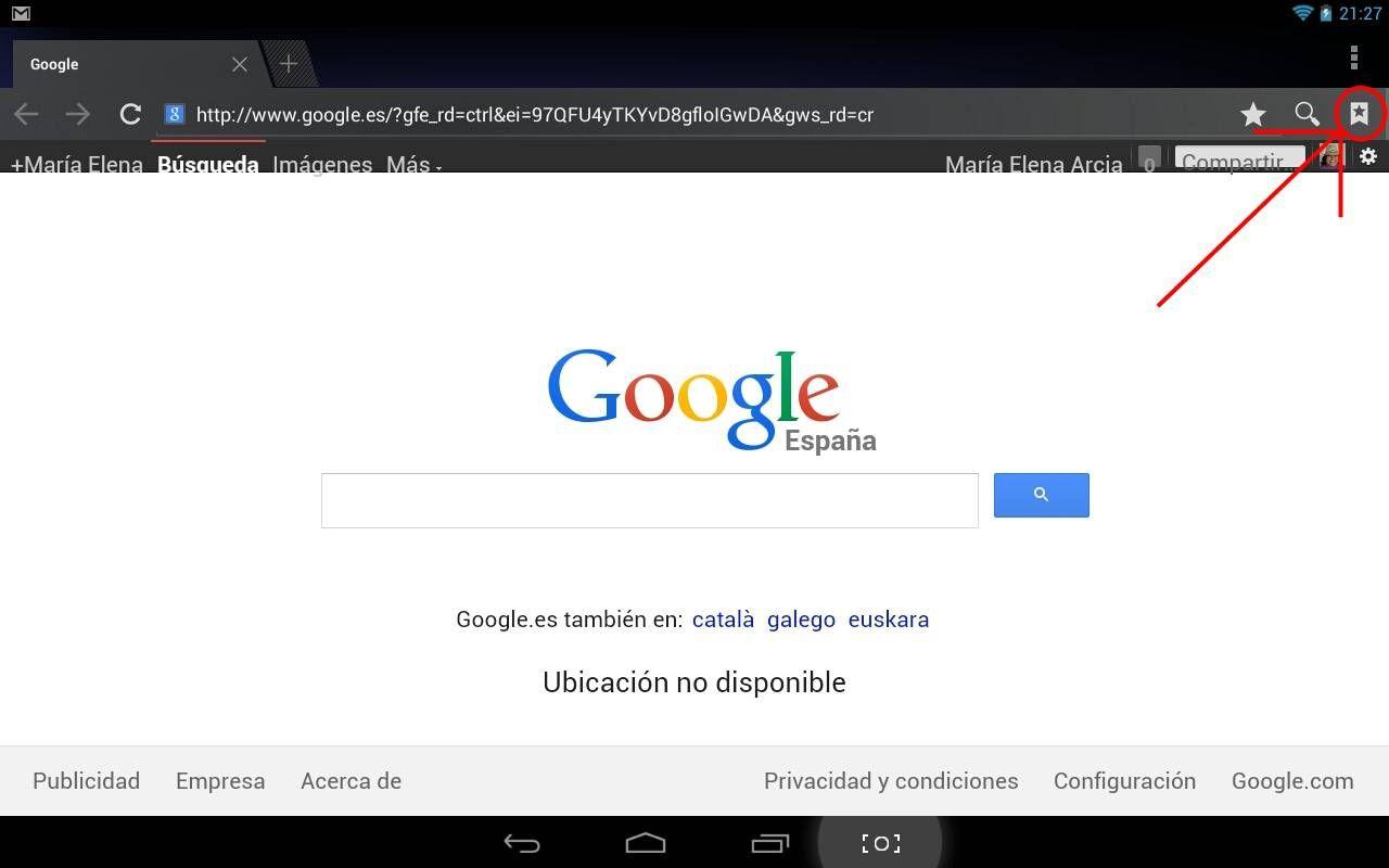 Ver el historial de Android