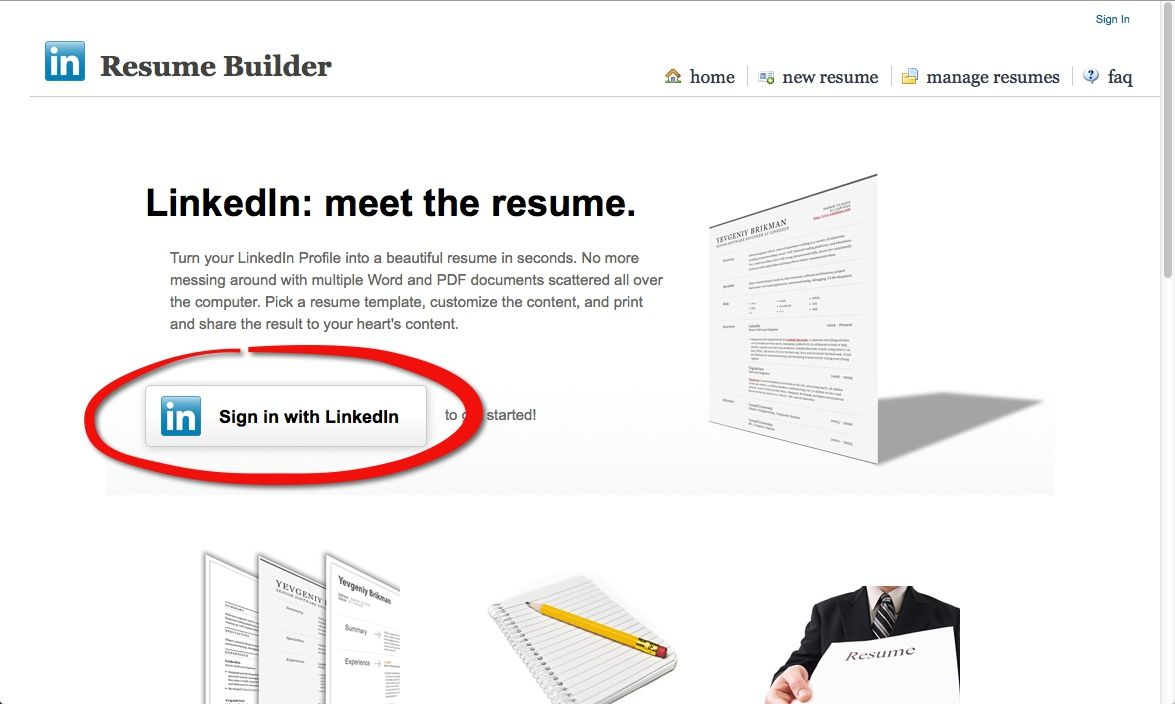 Currículum en inglés con LinkedIn