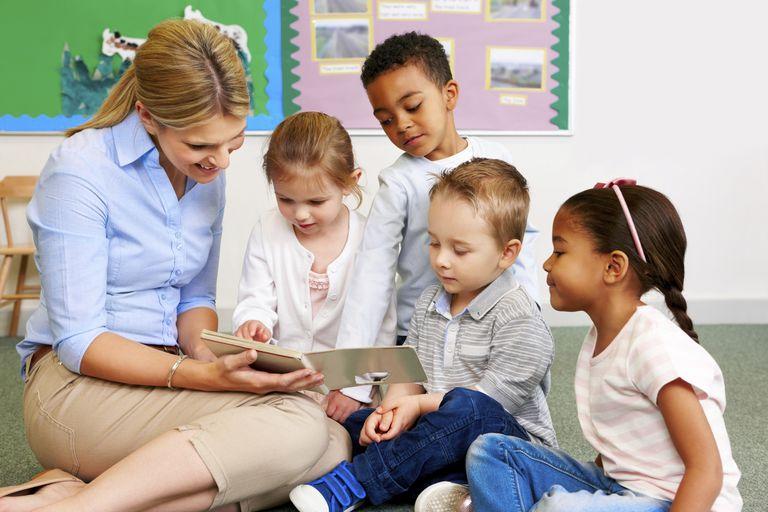 teacher reading classroom