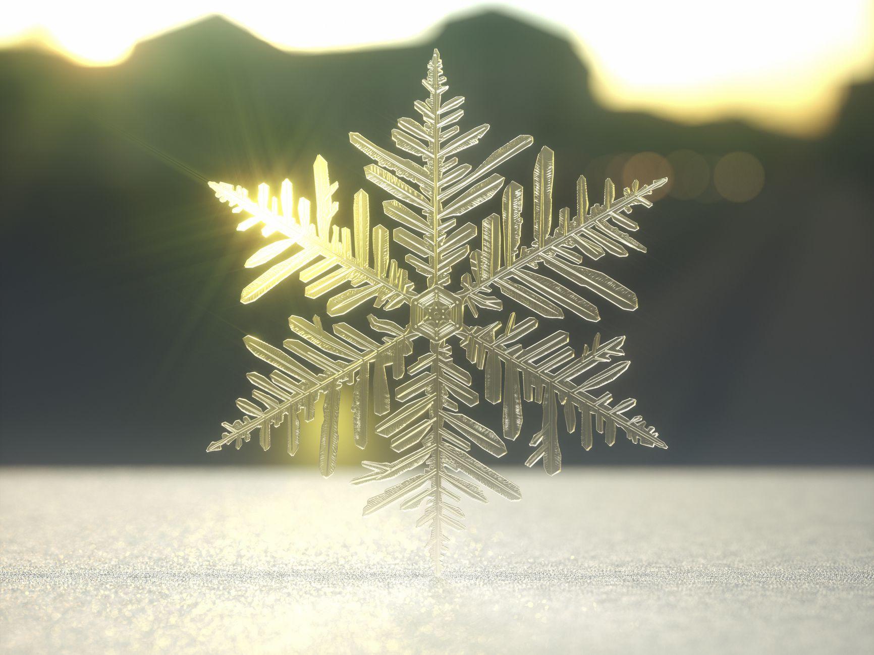 Tatuajes de copos de nieve—Símbolo de positividad