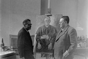 Jose Clemente Orozco con Diego Rivera