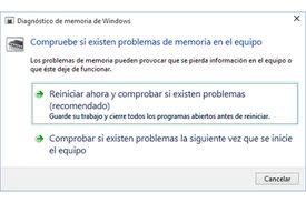 Comprobar memoria RAM Windows 10