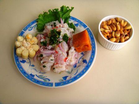 Preparación del ceviche de pescado