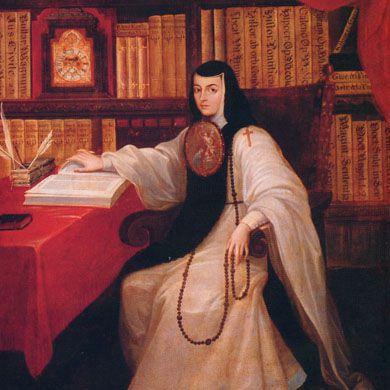 Retrato de Sor Juana Inés de la Cruz.