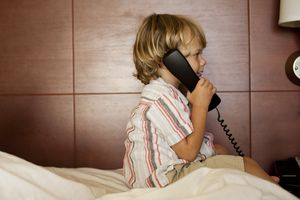 Kid calling from landline phone