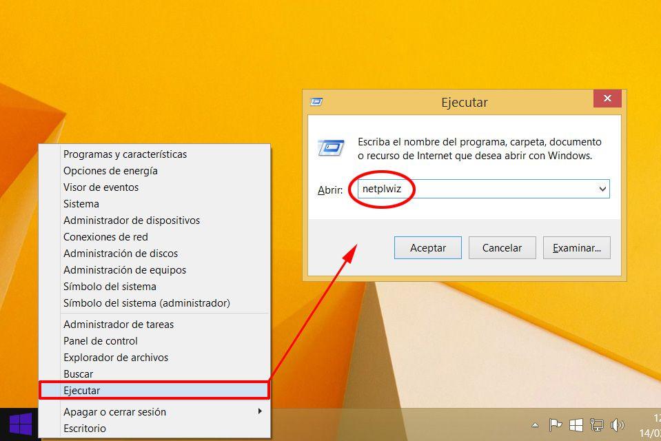 Entrar sin contrasena Windows 8, 8.1