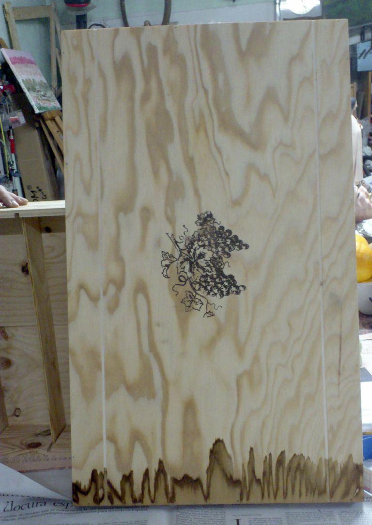 Caja original de madera de pino