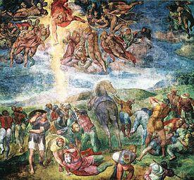 La conversión de San Pablo (1542), obra de Miguel Ángel