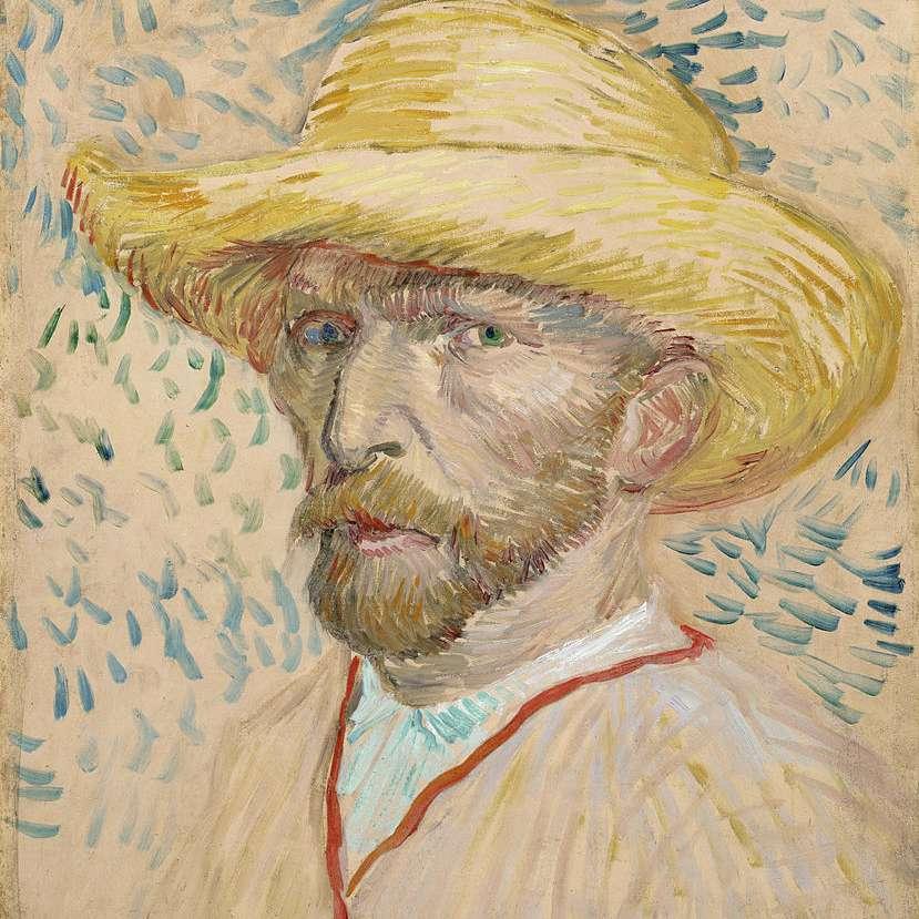 Vincent van Gogh Autorretrato sombrero paja