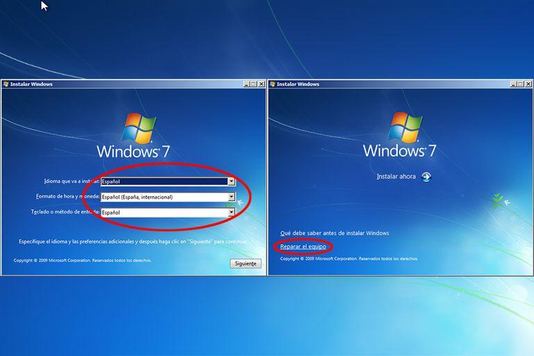 reparar windows 7