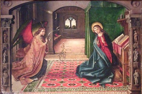 El arcángel Gabriel dio a la Virgen María la noticia de que sería la madre del Hijo de Dios.