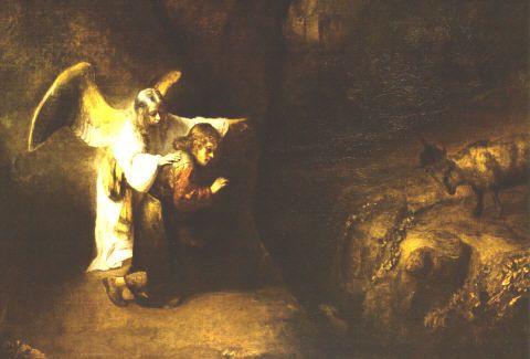La visión de Daniel explicada por el ángel Gabriel por Rembrandt Harmensz van Rijn