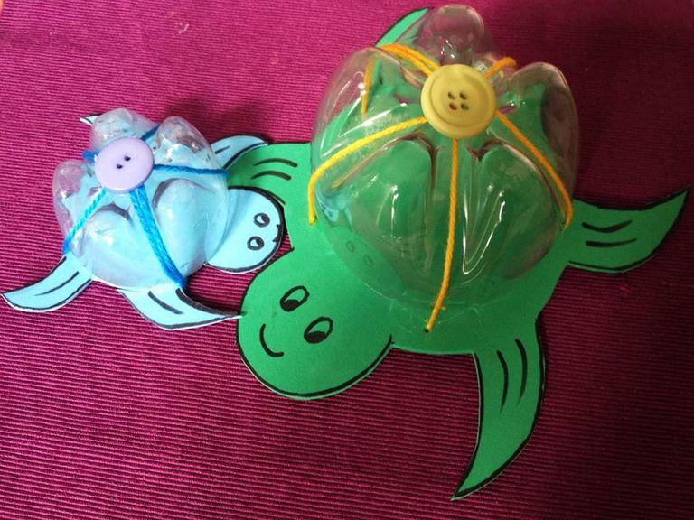 Tortugas De Fomi Y Plastico Reciclado