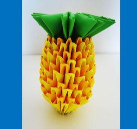 Piña origami 3D