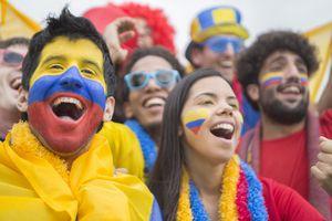 Los colombians saben celebrar. (Colombians know how to celebrate.)