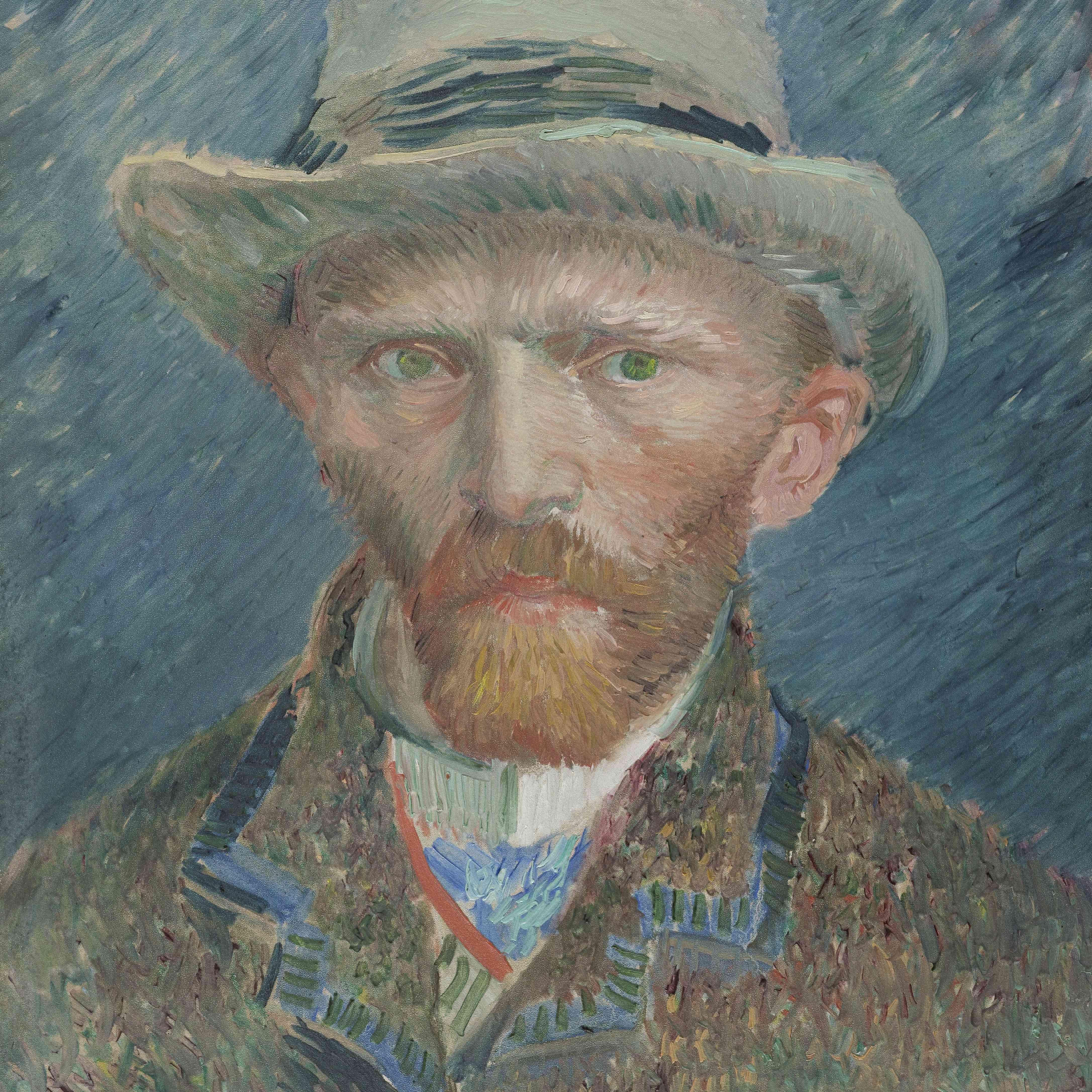 Vincent van Gogh Autorretrato sombrero gris