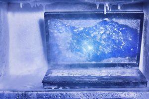 Laptop congelado