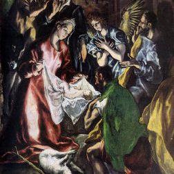 La adoración de los pastores (1596-1600) por El Greco
