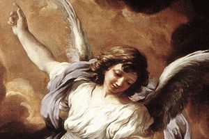 Detalle del Ángel de la Guarda por