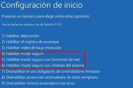 Modo Seguro Windows10