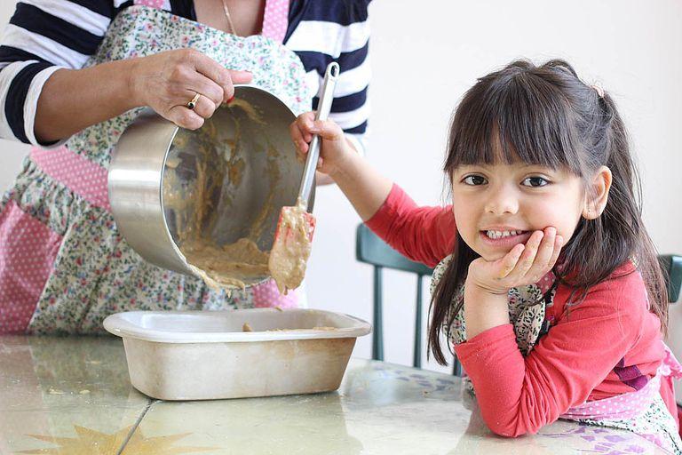 Receta de banana bread para hacer con niños