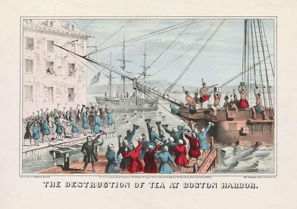 La destrucción del té en Boston