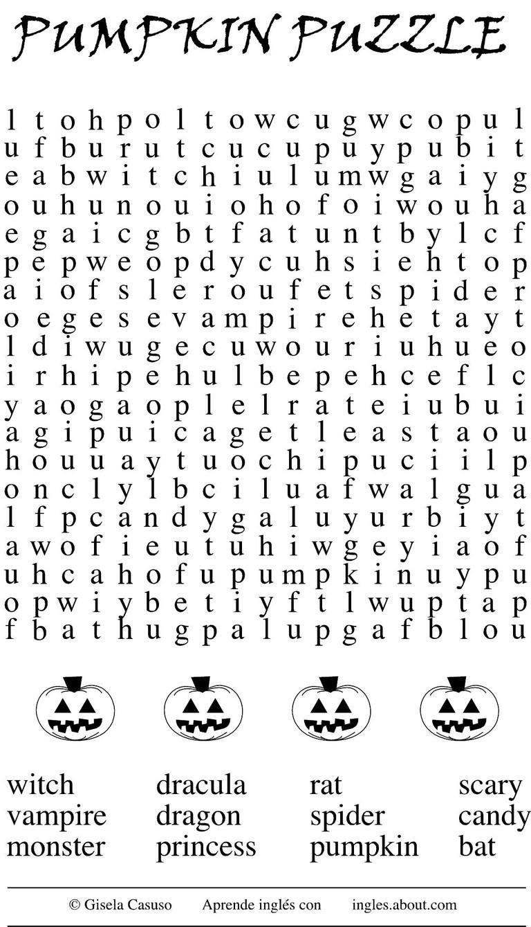 5 Juegos De Halloween Para Aprender Ingles