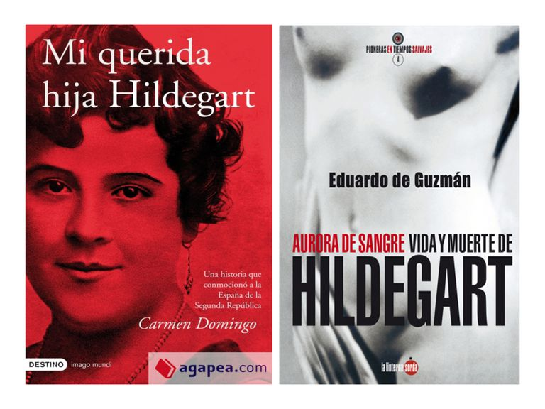 Dos de los libros acerca de la historia de Hildegart Rodríguez Carbelleira.