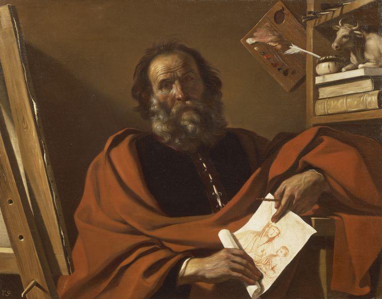 Una pintura al óleo de San Lucas