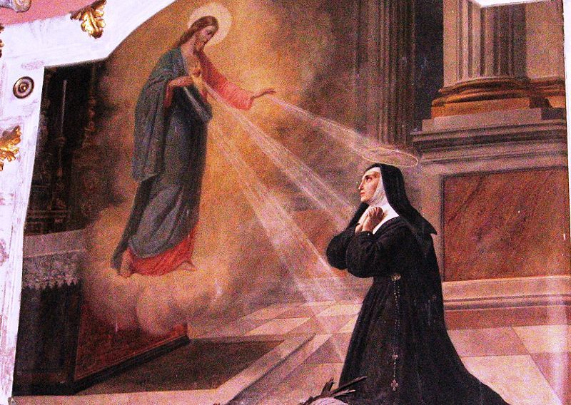 Santa Margarita Maria Alacoque y la devoción al Sagrado Corazón por Rodolfo Morgari