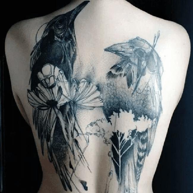 Tatuajes de cuervos y serpientes