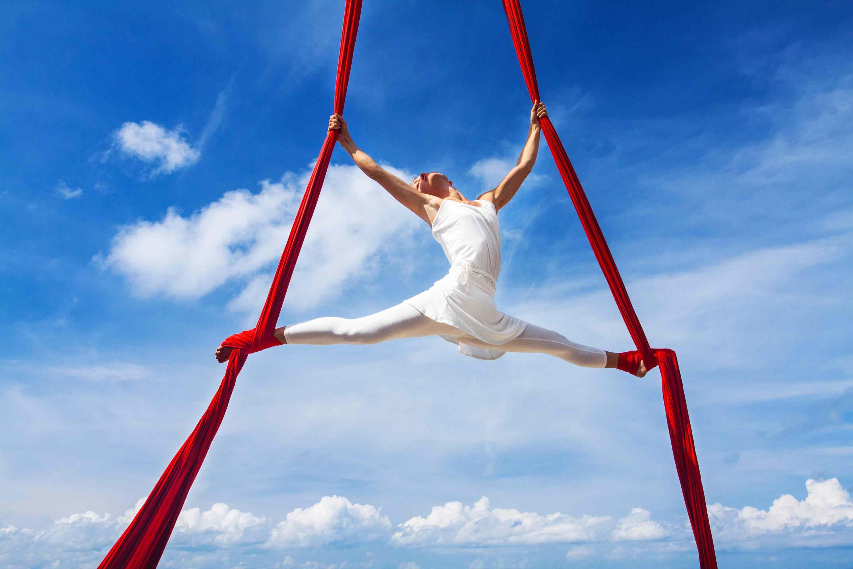 aerial silks fitness class
