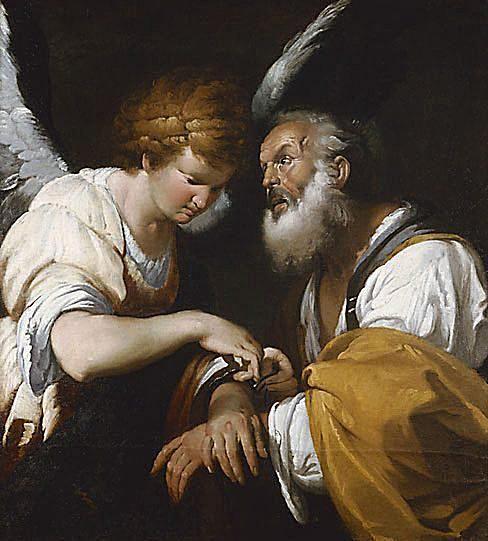 La liberación de San Pedro por Bernardo Strozzi
