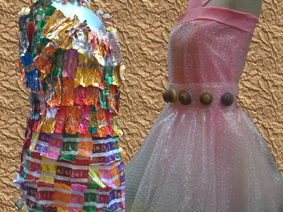 7 Ideas De Vestidos Con Materiales Reciclados