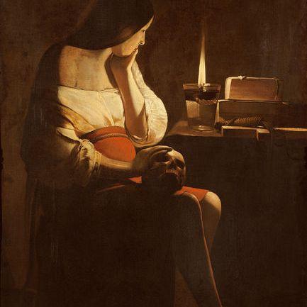 Magdalena penitente por Georges de la Tour