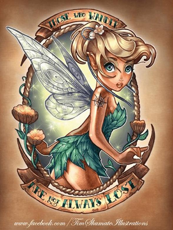 Campanilla tattoo, Tatuajes Disney